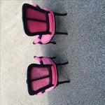 Image of Black & Pink Louis XIV Sitting Chairs - Pair