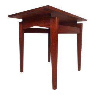 Mid-Century Modern Walnut End Table by Jens Rison