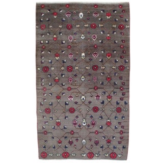 Karapinar Rug with Flower Lattice Design