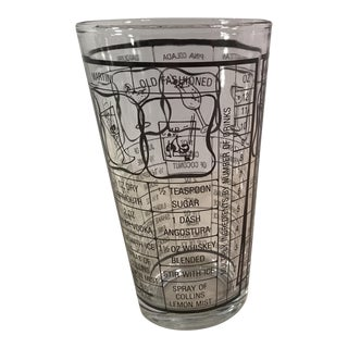 Vintage Drink MIX Recipe Glass