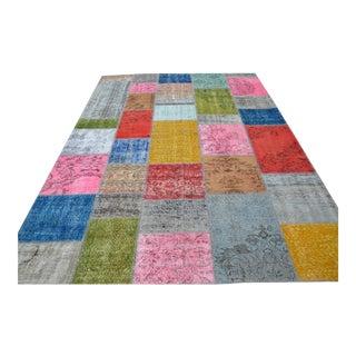 Multicolor Patchwork Rug - 6′11″ × 10′