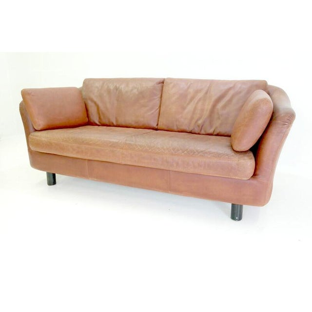 1970's Vintage Dux Leather Sofa - Image 2 of 5