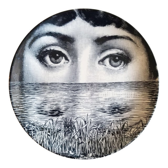 Image of Piero Fornasetti Tema E Variazioni Plate, #89 of Lina Cavalieri's Face.