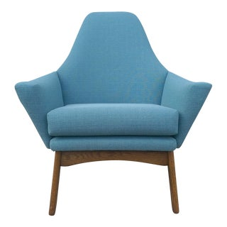 Mid Century Modern Pearsall Style Wingback Chair