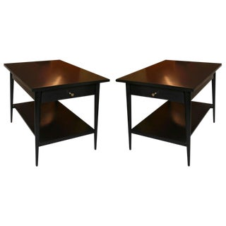 Paul McCobb Planner Group Black lacquer tables