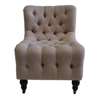 CDH Linen Tufted Chair