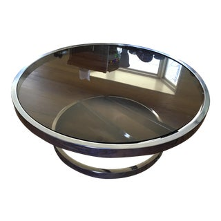 Mid-Century Milo Baughman Chrome Coffee Table