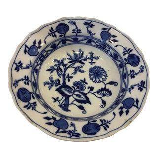 Blue Meissen Porcelain Deep Plate