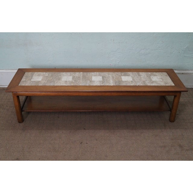 Mid Century Modern Long Walnut Coffee Table - Image 4 of 10
