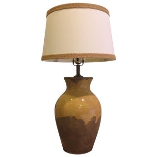 Pottery Barn Yellow Lamp With Shade