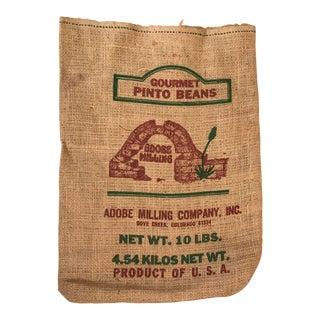 Burlap Gourmet Bean Bag