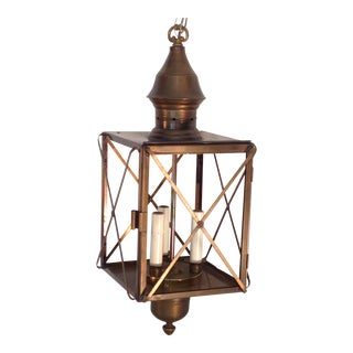 Brass Finish Hanging Lantern