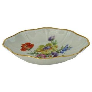 Limoges Floral & Gold-Rimmed Bowl
