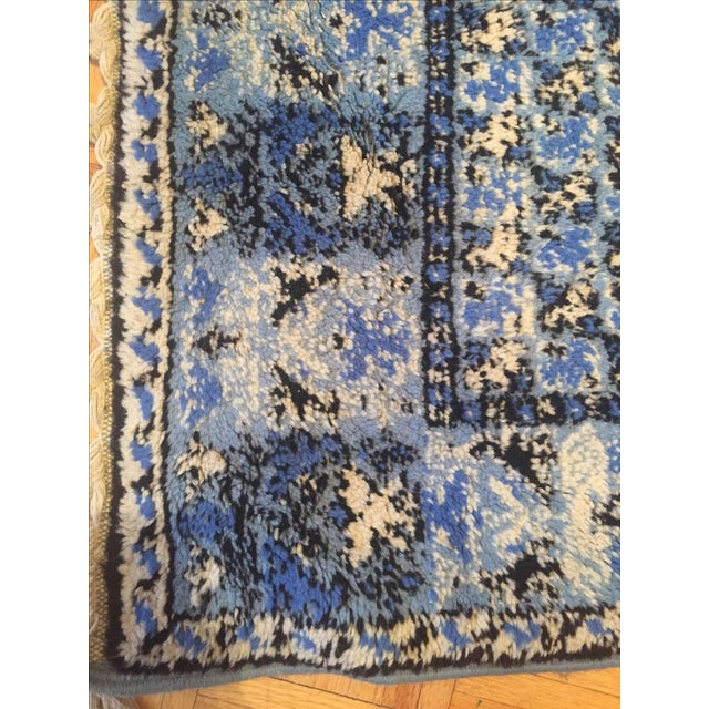 Large Blue Moroccan Rug - 4' x 6' - Image 5 of 9