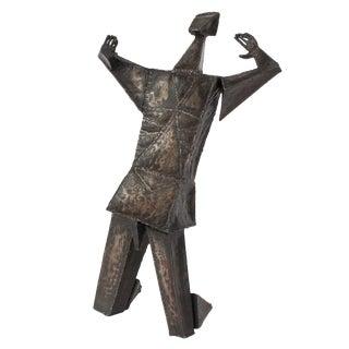 Brutalist Kneeling Male Sculpture by Irving Berg