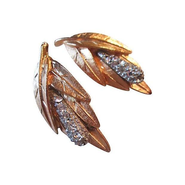 Image of Bold Leaf Brooch & Earrings