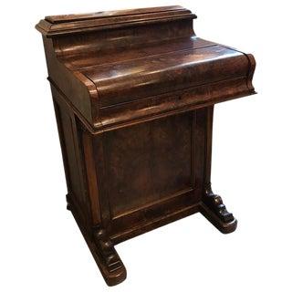 William IV Burled Walnut Davenport Desk