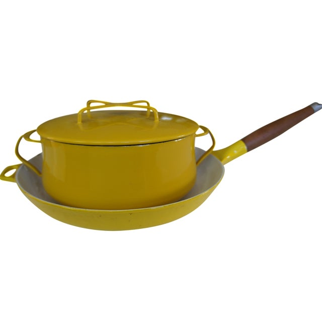 Dansk Kobenstyle Casserole and Copco Cast Iron Pan - Image 1 of 9