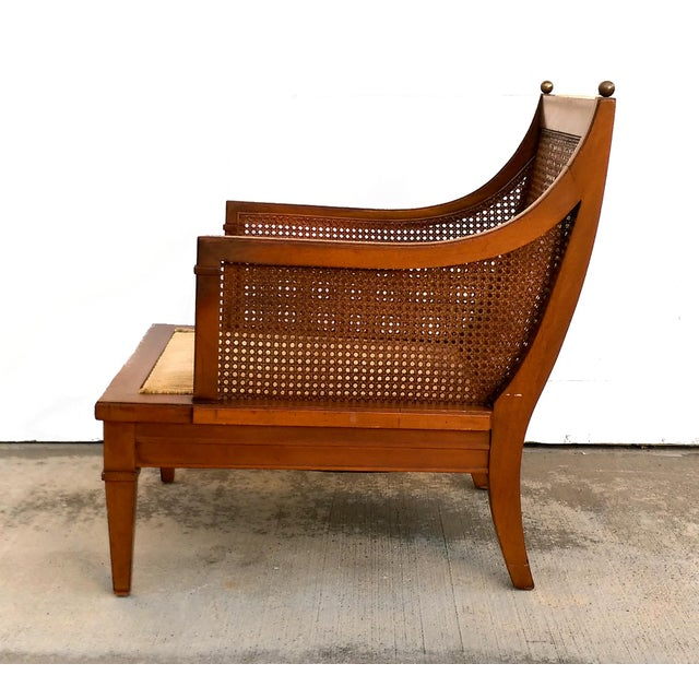 Vintage Mid Century Cane Back Lounge Chair - Image 5 of 8