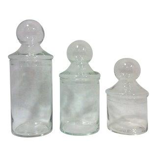 Vintage Graduated Apothecary Jars - Set of 3