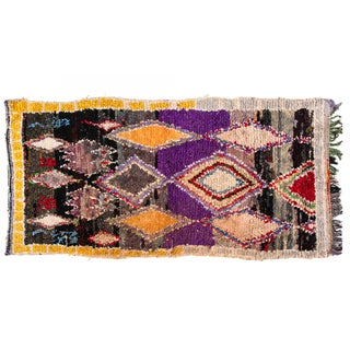 Boucherouite Hand Loomed Rug - 4′1″ × 9′