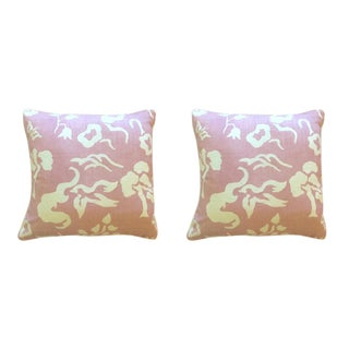 "Victoria Hagan ""Early Spring"" Lilac Pillows - a Pair"