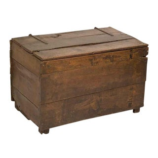 Large Rustic Oak Coffer / Trunk
