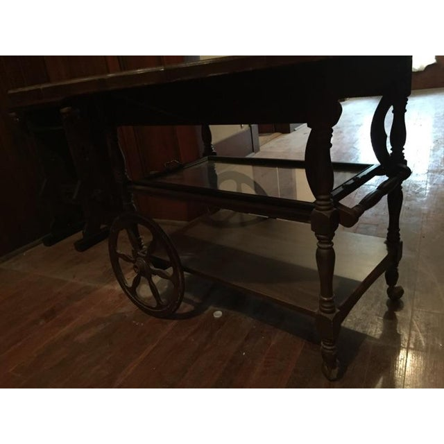 Traditional Serving Cart Table - Image 4 of 9