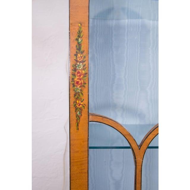 English Adams Style Painted Satinwood Secretary - Image 9 of 10