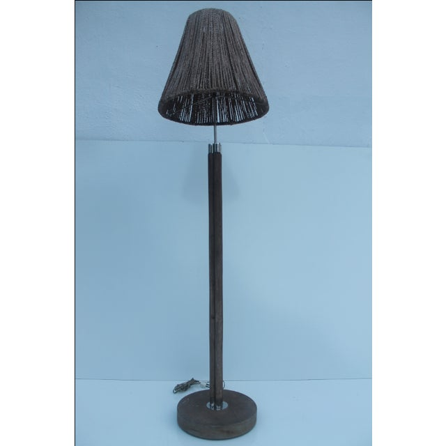 Vintage Bamboo And Chrome Floor Lamp Chairish