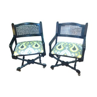 Mid-Century Campaign Chairs - Pair