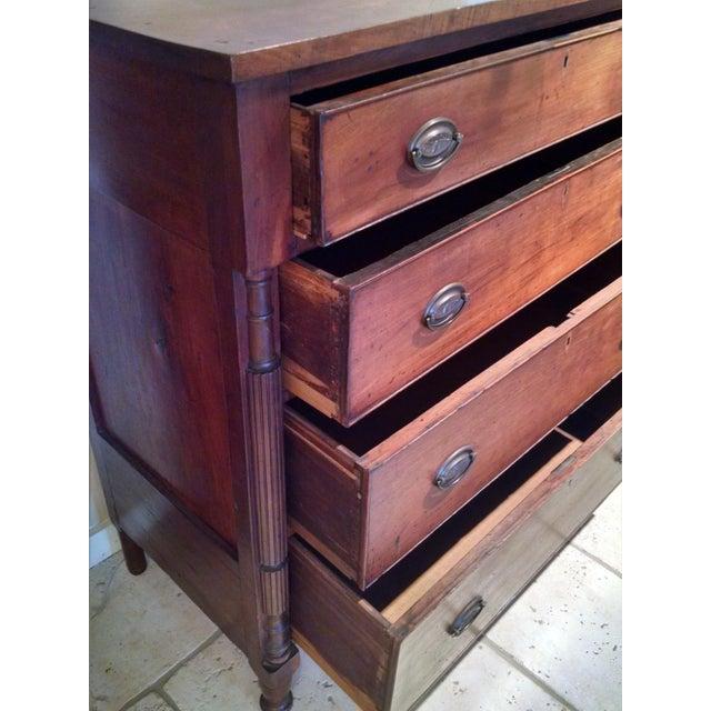 Federal cherry wood drawer chest chairish