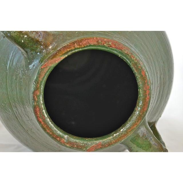 Turkish Oversize Dark Green Glazed Urn - Image 8 of 9