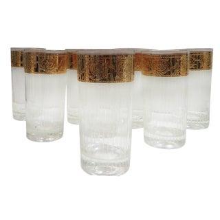 Gilt-Band Highball Glasses - Set of 8