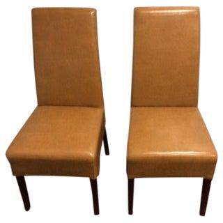 Tan Palecek Chairs - Pair