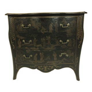 Drexel Chinoiserie Black Chest
