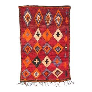 Vintage Moroccan Boujad Rug - 5′6″ × 7′10″