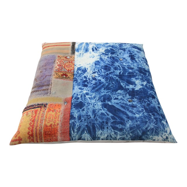 Image of Vintage Turkish Patchwork Floor Pillow