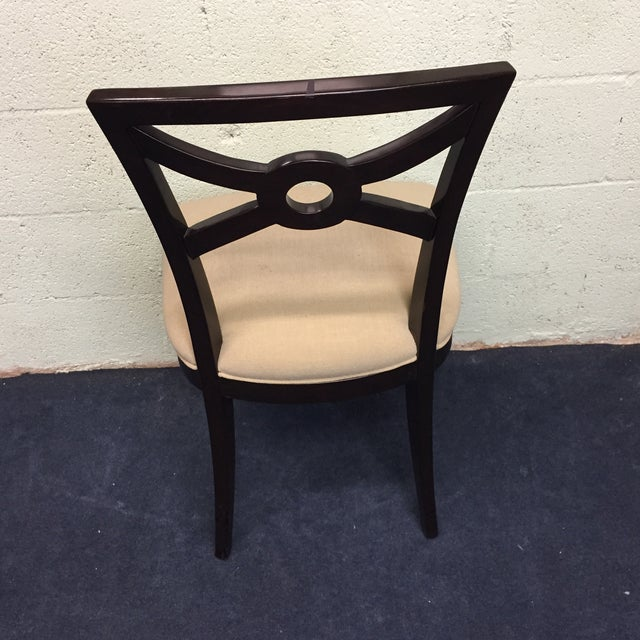 Beige & Espresso Side Chair - Image 5 of 8
