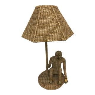 Handmade Monkey Rattan Lamp