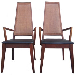 Mid-Century Cane-Back Armchairs by Tempo of Califo