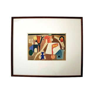1975 Ellwood Graham Signed Abstract Watercolor