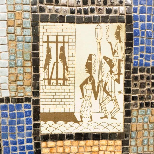 David Holleman Ceramic Mosaic Table - Image 9 of 10
