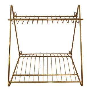 Cb2 Gold Wall Mounted Dish Drying Rack