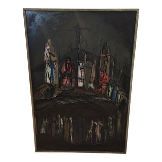 Kenneth Forman Gothic Church Oil Painting