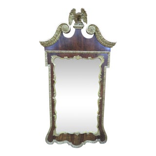 19th Century Chippendale Eagle Crested Mirror