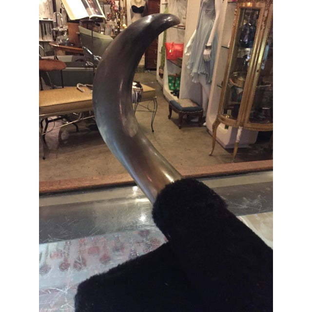 Image of Vintage Rock-A-Billy Bull Horns on Black Velvet