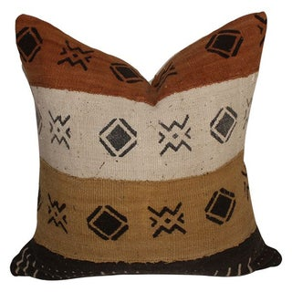 Vintage Multi-Colored African Mud Cloth Pillow