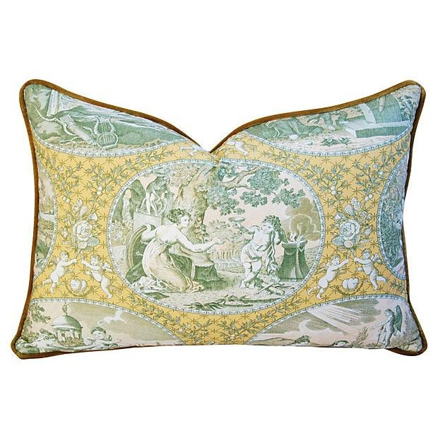 Italian Scalamandre Cupido Toile Pillows - A Pair - Image 2 of 6