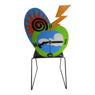 Folk Art Face Chair -Associated with Gregg Palazzolo